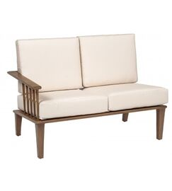 Van Dyke Left Arm Facing Loveseat Sectional Piece with Cushions Fabric: Summit Spark