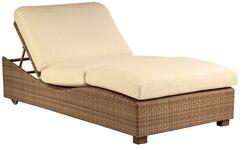 Montecito Double Chaise Lounge Body Fabric: Spectrum Indigo