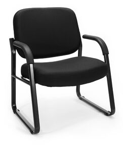 Big and Tall Guest Chair Seat Color: Black