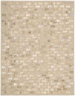 Delvecchio Hand-Woven Beige Area Rug Rug Size: Rectangle 5'3