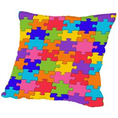 Puzzle Throw Pillow Size: 16