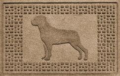 Shield Rottweiler Doormat Color: Camel