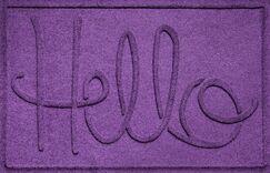 Aqua Shield Hello Doormat Color: Purple