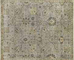 Kehoe Persian Hand-Woven Gray Area Rug Rug Size: Rectangle 12' x 15'