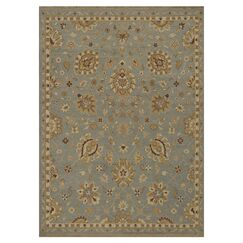 Keiser Hand-Knotted Sterling Blue Area Rug Rug Size: Rectangle 9'6