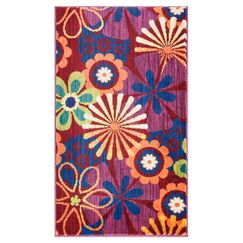 Nanava Pink/Red Area Rug Rug Size: Rectangle 2'2