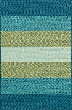 Barta Hand-Braided Blue/Green Indoor/Outdoor Area Rug Rug Size: Rectangle 2'3