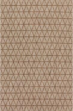 Chino Beige/Mocha Indoor/Outdoor Area Rug Rug Size: Rectangle 3'11