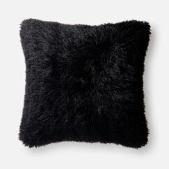 Ostrom Throw Pillow Color: Black