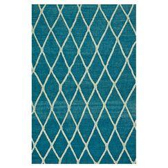 Mazur Hand-Woven Azure Blue Area Rug Rug Size: Rectangle 9'3