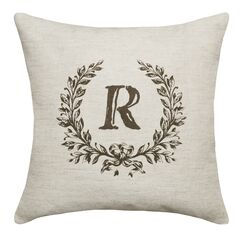 Eremo Initials Throw Pillow Letters: R