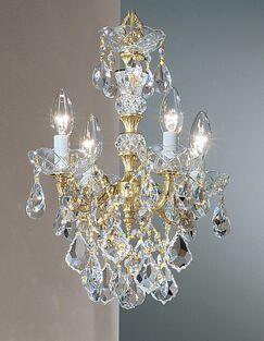 Madrid Imperial 4-Light Candle Style Chandelier Finish: Olde World Bronze, Crystal Type: Swarovski Elements Golden Teak