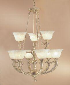 Victorian II 9-Light Shaded Chandelier Finish: Millenium Silver, Crystal Type: Swarovski Spectra