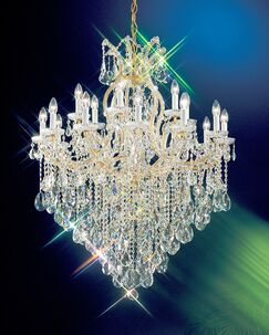 Maria Thersea 19-Light Candle Style Chandelier Crystal Type: Swarovski Spectra, Finish: Olde World Gold