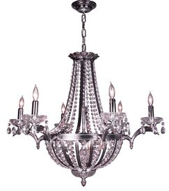 Terragona 16-Light Chandelier Finish: Chrome with Black patina, Crystal Type: Crystalique Plus