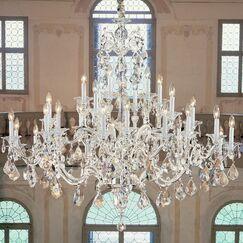 Via Firenze 30-Light Candle Style Chandelier Finish: Bronze with Black Patina, Crystal Type: Swarovski Elements