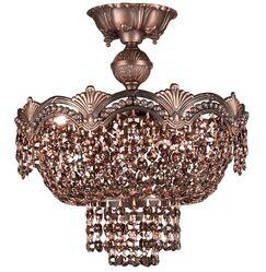 Regency II 3-Light Semi-Flush Mount Crystal Type: Swarovski Elements, Finish: Roman Bronze
