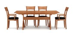 Sarah Extendable Dining Table Color: Natural Cherry, Size: 30