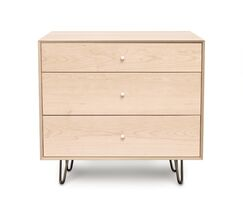 Canvas 3 Drawer Bachelor's Chest Color: Slate Maple, Drawer Handle Design: Knob, Leg Material: Wood