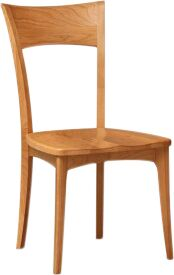 Ingrid Solid Wood Dining Chair Color: Smoke Cherry