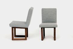 C2 Upholstered Dining Chair Upholstery Color: Dove Grey Velvet