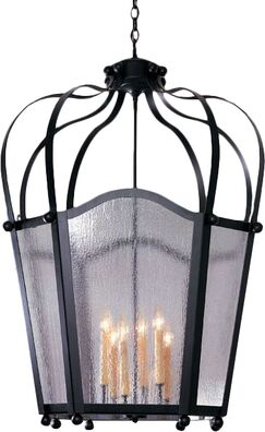 Citadel 6-Light Pendant Finish: Blackwash, Acrylic: Clear Acrylic