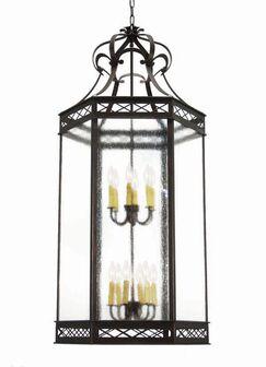 Estancia 12-Light Foyer Pendant Finish: Blackwash, Acrylic: Real Mica