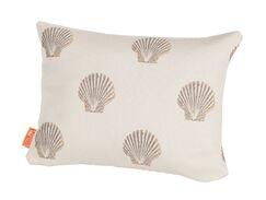 Benat Scallop Indoor/Outdoor Boudoir/Breakfast Pillow Color: Sand