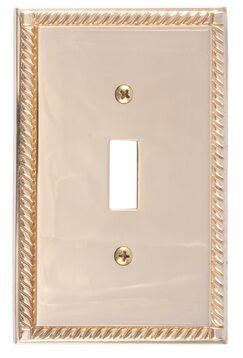 Georgian Single Switch Plate Finish: Polished Brass