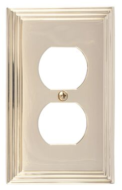 Classic Steps Single Outlet Plate Finish: Polished Brass