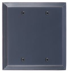 Classic Steps Double Blank Plate Finish: Venetian Bronze