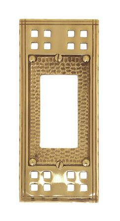 Arts and Crafts Single GFCI Wall Plate (Set of 2) Finish: Satin nickel