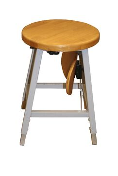 Lab Adjustable Height Bar Stool Upholstery: Gray
