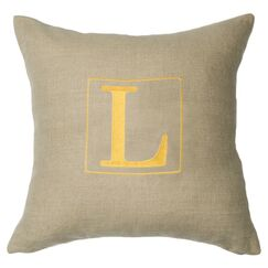 Personalized Annalise Linen Throw Pillow Letter: J