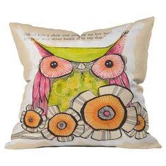 Miss Daisy Outdoor Throw Pillow Size: 18