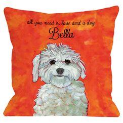 Personalized Maltese Throw Pillow
