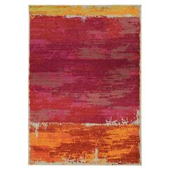 Expressions Abstract Red Area Rug Rug Size: Rectangle 4' x 5'9