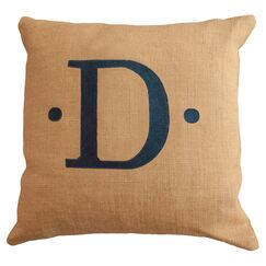Personalized Dot Throw Pillow Letter: O