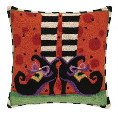 Witch Legs Wool Throw Pillow
