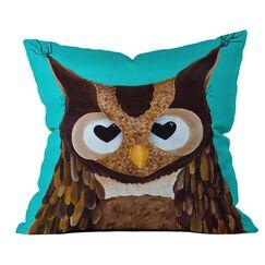 Mandy Hazell Owl Love You Outdoor Throw Pillow Size: 16