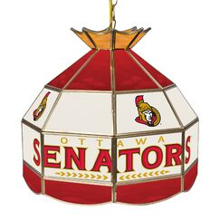 NHL Stained Glass 1-Light Pool Table Lights Pendant NHL Team: Ottawa Senators