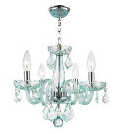 Yvette 4-Light Semi Flush Mount Finish: Coral Blue