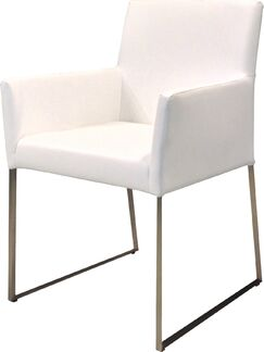 Tate Dining Arm Chair Upholstery Color: White