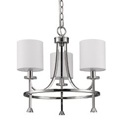 Vanegas 3-Light Shaded Chandelier Finish: Polished Nickel
