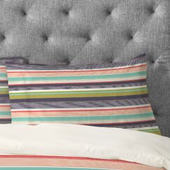 Wendy Kendall Stripe Pillow Case Size: Standard