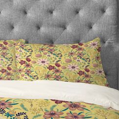 Pimlada Phuapradit Canary Floral Pillowcase Size: Standard