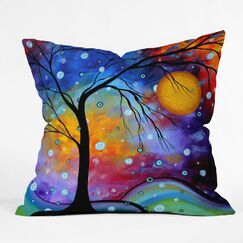 Winter Sparkle Throw Pillow Size: 16
