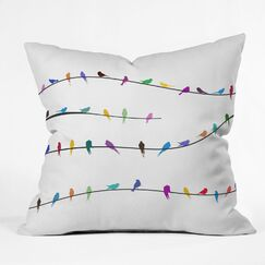 Happy Spring Throw Pillow Size: Large