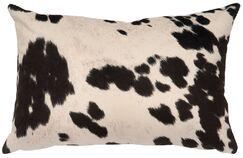 Chontel Faux Hair on Hide Lumbar Pillow Color: Udder Domino