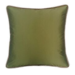 Taffeta Metallic Throw Pillow Color: Peridot